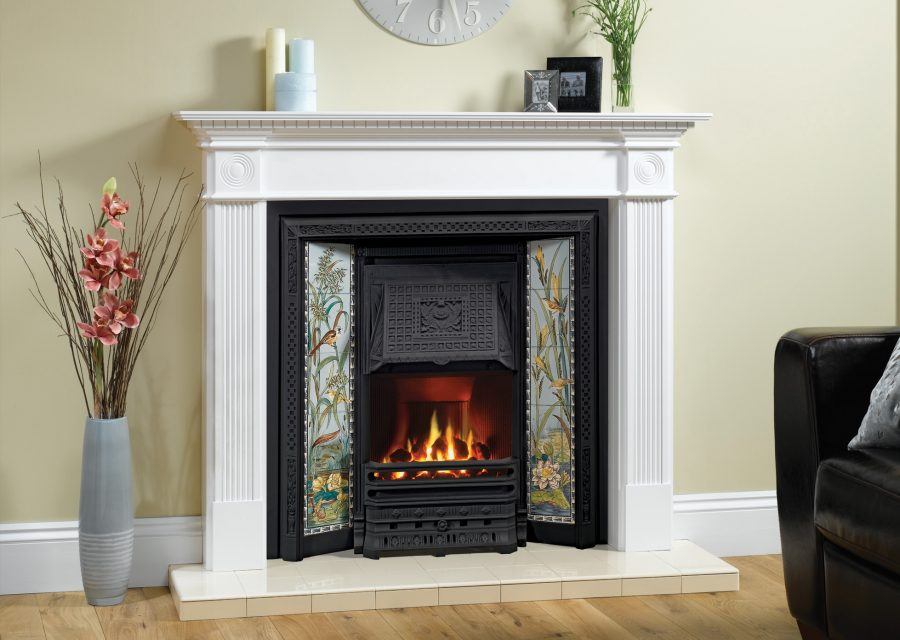 Victorian Tiled Convector Gas Fire