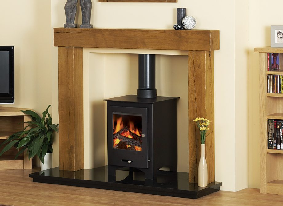 Beamish Stove Surround In Rustic Oak