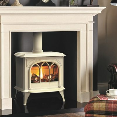 Huntingdon 40 Gas With Tracery Door In Matt Ivory