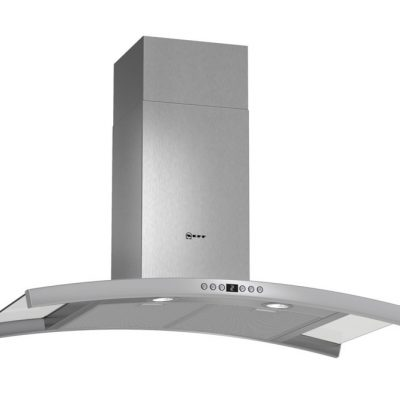 Neff 90Cm Stainless Steel Curved Chimney Cooker Hood