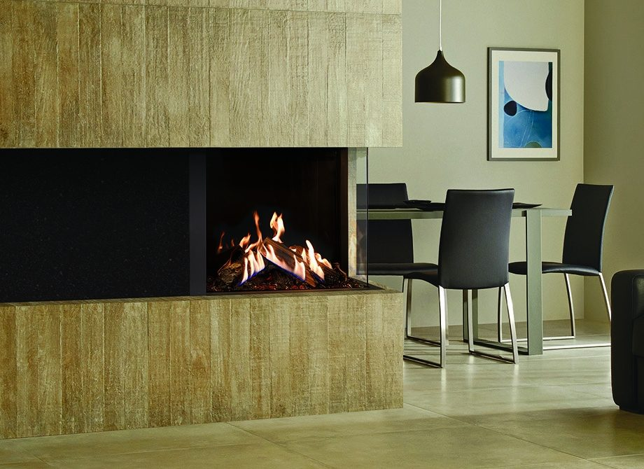 Reflex 75 T 3 Corner With Echo Flame Black Glass Lining