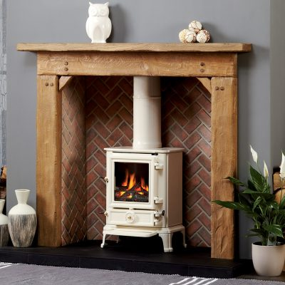 Barkston Stove Surround In Aged Oak