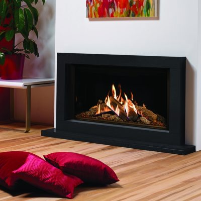 Reflex 105 With Echo Flame Black Glass Lining With Sorrento In Graphite Granite
